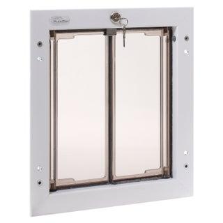 PlexiDor Performance Pet Door Medium Door Mount (Option: Medium, White, Door Mount)