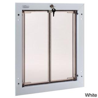 PlexiDor Performance Pet Door Large Door Mount (Option: Large, White, Door Mount)