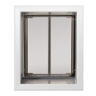 PlexiDor Performance Pet Door Large Wall Mount (Option: Large, White, Wall Mount)