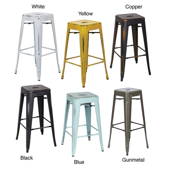 Vintage 30 inch Antique Finish Modern style Sheet Metal  : Vintage 30 Antique Finish Modern Style Sheet Metal Caf Bistro Barstool 2 Pack dcd39422 4d57 45e1 bb89 585ac6934290600 from www.overstock.com size 600 x 600 jpeg 30kB