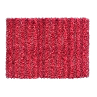 Sea Breeze Shaggy Red Area Rug (5' x 8') - 5' x 8'