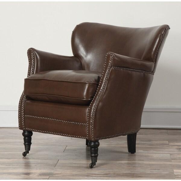 Mercer Chocolate Leather Club Chair