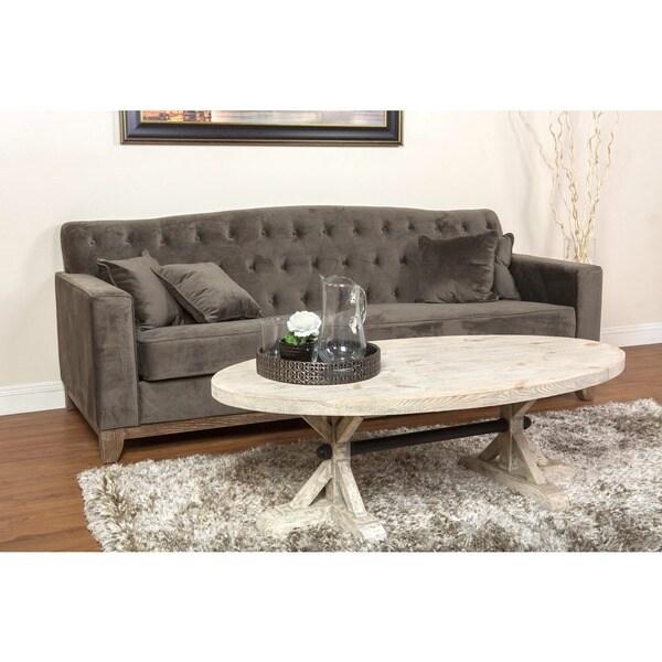Kosas Home Urban Warm Grey Button-tufted Cate Sofa