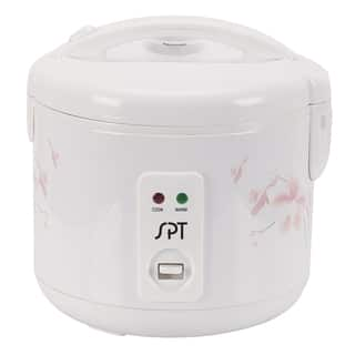 SPT White 6-cup Rice Cooker and Steamer|https://ak1.ostkcdn.com/images/products/8969580/SPT-White-6-cup-Rice-Cooker-and-Steamer-P16178290.jpg?impolicy=medium