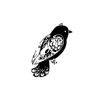 Tribal Bird Vinyl Wall Decal