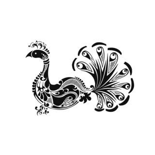 Peacock Bird Vinyl Wall Decal