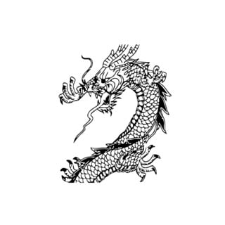 Dragon Vinyl Wall Art Decal