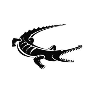 Crocodile Vinyl Wall Art Decal