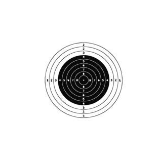 Shooting Target Vinyl Wall Art Decal