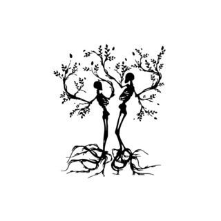 Scull Tree Branch Vinyl Wall Art
