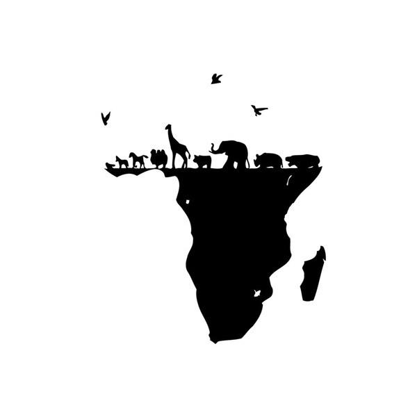 African Animals Vinyl Wall Art