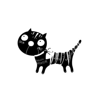 Funny Cat Vinyl Wall Art