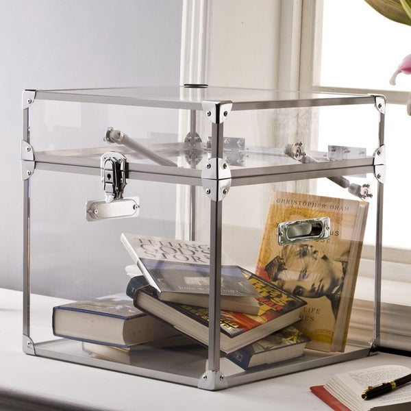 Pure Decor Clear Acrylic Trunk Free Shipping Today Overstockcom