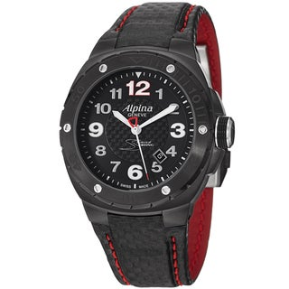 Alpina Men's AL-525LBR5FBAR6 'Racing' Black Dial Carbon Fiber Strap Limited Edition Watch