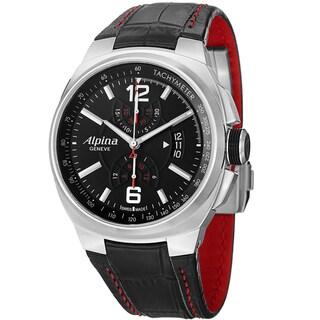 Alpina Men's AL-725AB5AR26 'Racing' Black Dial Chronograph Black Leather Strap Watch