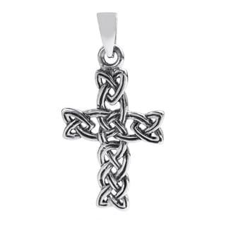 Celtic Triquetra Knot Cross Sterling Silver Pendant (Thailand)