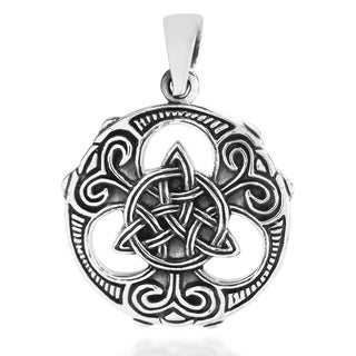 Handmade Celtic Knots Vector Balance .925 Sterling Silver Pendant (Thailand)