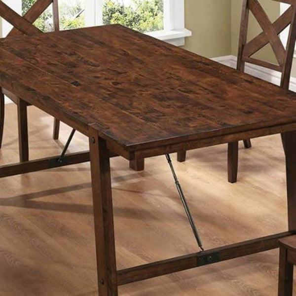 Vintage Rustic Pecan Wood Plank Dining Set   Free Shipping Today    Overstock.com   16179135 Part 61