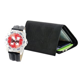Game Time Nebraska Cornhuskers Watch and Wallet Gift Set