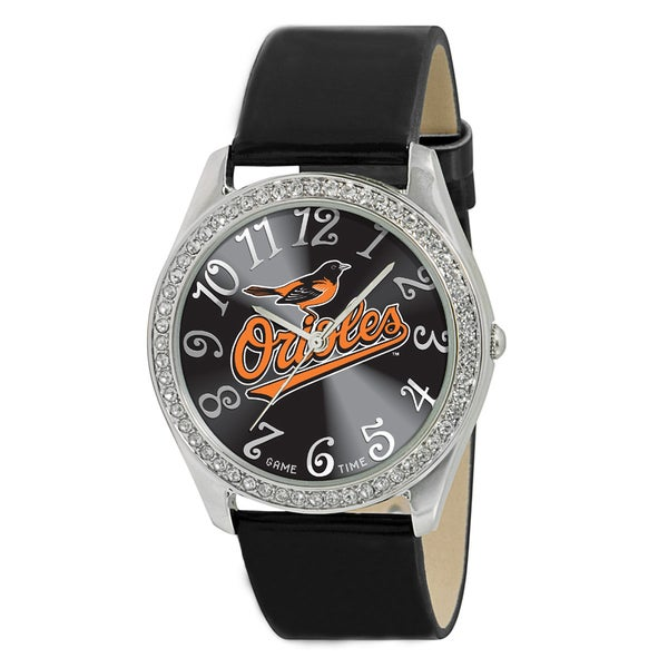 Game Time MLB Baltimore Orioles Women's Glitz Patent Leather Watch