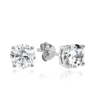 Link to Sterling Silver Round Solitaire Zirconia Stud Earrings Similar Items in Earrings