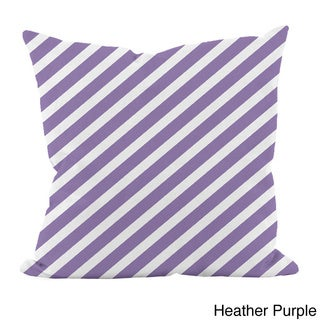 Striped Purple 16x16-inch Decorative Pillow
