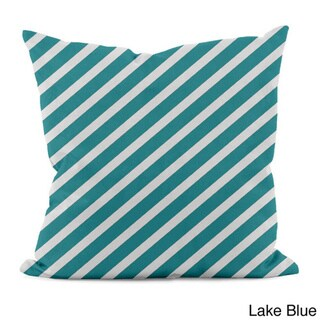 Bright Diagonal Stripe 18x18-inch Decorative Pillow