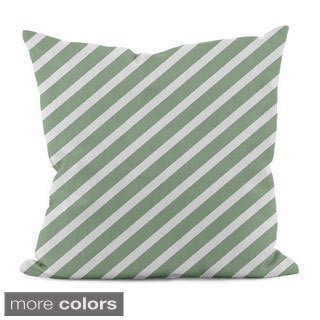 Bright Diagonal Stripe 20x20-inch Decorative Throw Pillow