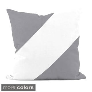 Neutral Diagonal Stripe 20x20-inch Decorative Pillow