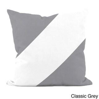 Neutral Diagonal Stripe 18x18-inch Decorative Pillow (Classic Grey-18)
