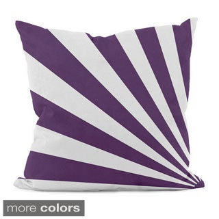 Bold Geometric Rays 20x20-inch Decorative Pillow