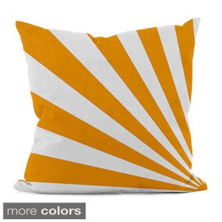 Bold Geometric Rays 18x18-inch Decorative Pillow