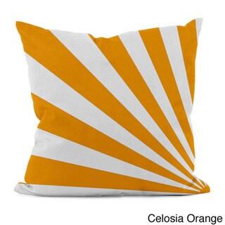 Bold Geometric Rays 18x18-inch Decorative Pillow