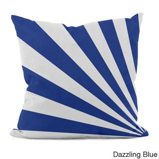 Bold Geometric Rays 16x16-inch Decorative Pillow