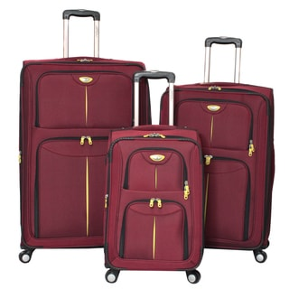 American Travel Elitist 3-piece Expandable Spinner Luggage Set