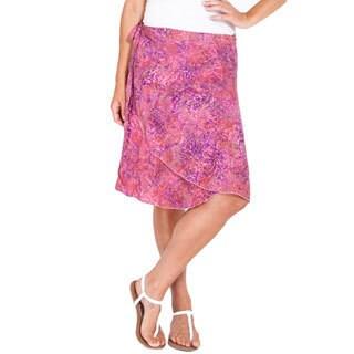 Handmade Women's Batik Print Classic Wraparound Skirt (Indonesia)