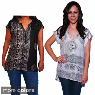 Women's Buttoned Ohm Kurta Top (Nepal)