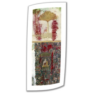 Elena Ray 'Medicine Buddha' Unwrapped Canvas with 2-inch Accent Border - Red