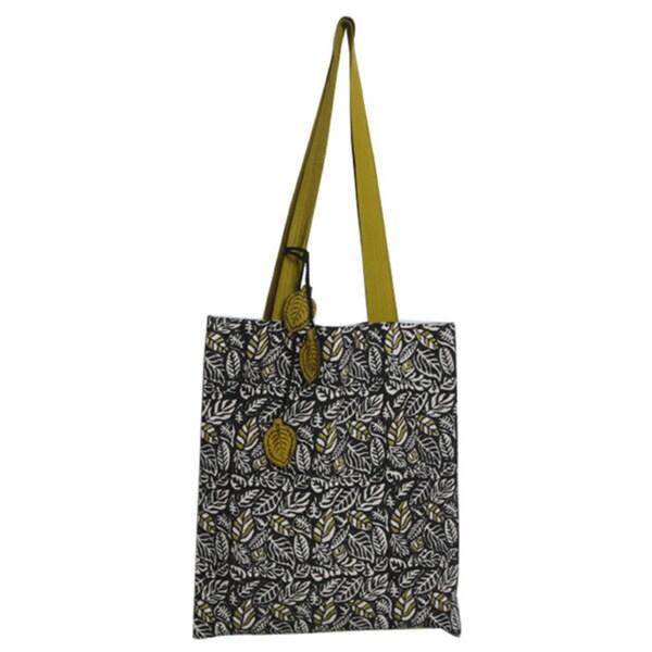 Hand-block Jungle Cat Design Cotton Fabric Tote Bag (India)