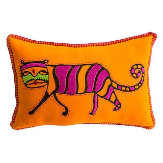 Handmade Tiger Print Stuffed Baby Pillow (India)