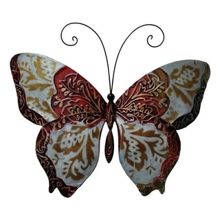 Handmade Red Metal and Capiz Butterfly (Philippines)