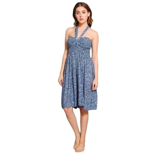 dae4eacc553 Shop Handmade Women s Leaf-printed Batik Summer Dress (Nepal) - Free  Shipping On Orders Over  45 - Overstock - 8970931