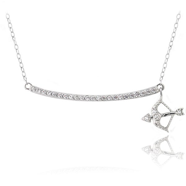 Sterling Silver Arrow Necklace 16 Rolo Chain