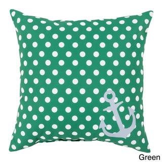 Polka Sea Anchor Indoor/Outdoor Decorative Throw Pillow