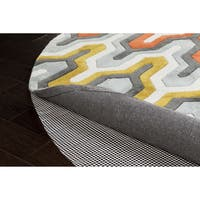 Ultra Lock Grip Reversible Hard Surface Non-Slip Rug Pad (6' Round) - White - 5'/6'/7'