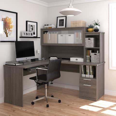 Bestar Dayton Melamine Reversible L-shaped Desk