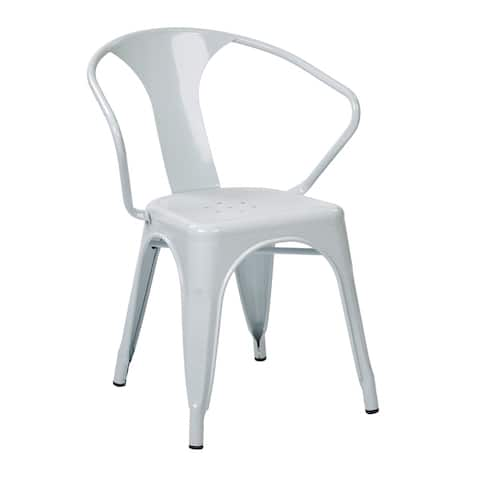 OSP Home Furnishings Patterson Metal Chair (4 Pack)