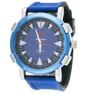 Airwalk Men's Round Sport Watch with Blue Rubber Strap
