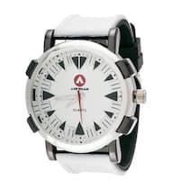 Airwalk Men's Round Sport Watch with White Rubber Strap