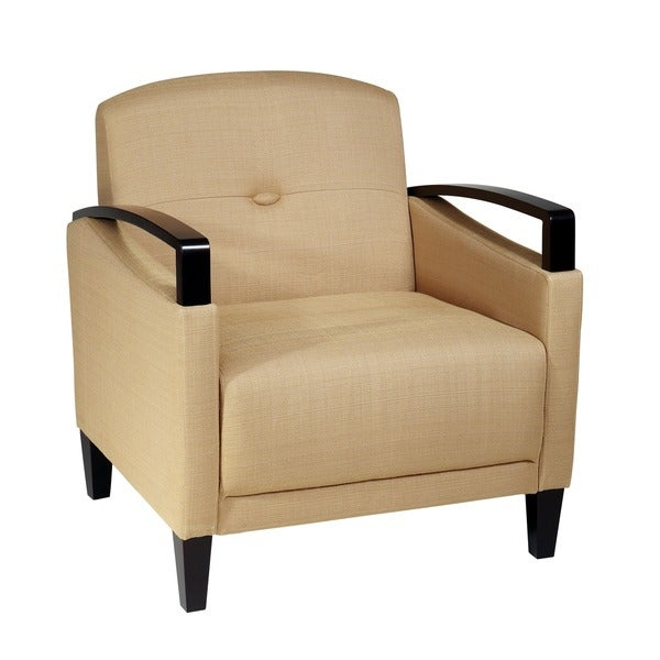 Main St. Woven Chair w/ Interlace Weave Fabric & Espresso Finish Wood Arms & Legs